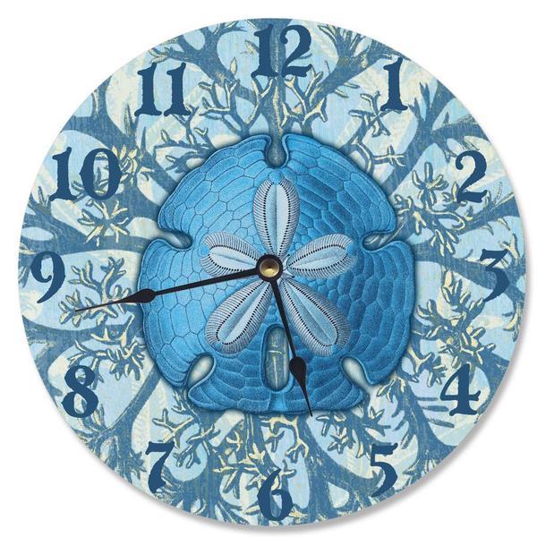 Blue Coastal Jelly Fish Vanity Clock