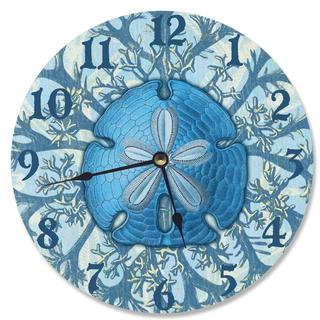Blue Coastal Jelly Fish Vanity Clock
