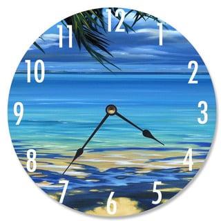 Palm Tree Shadows Vanity Clock