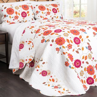 Lush Decor Massa 3-piece Floral Quilt Set
