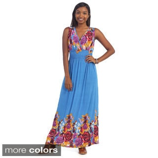 Hadari's Women's Lightweight Floral Maxi Dress