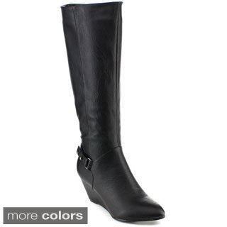 Yoki Karen 27 Women's Knee High Wedge Heel Boots