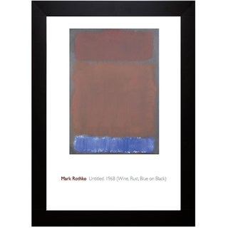 Mark Rothko 'Untitled, 1968' Framed Art Print