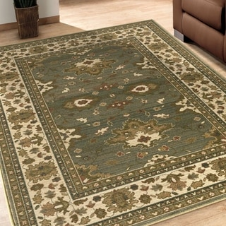 Versailles Eleanor Green Rug (5'3 x 7'6)