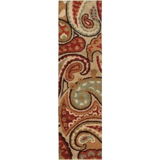 "Carolina Weavers Grand Comfort Collection Offbeat Pail Multi Shag Runner (2'3 x 8') - 2'3"" x 8'"