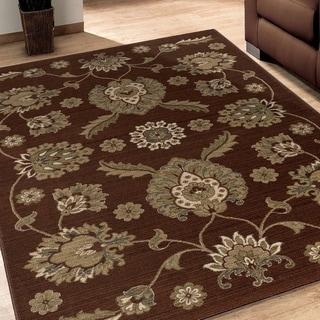 Versailles Adria Brown Rug (7'10 x 10'10)
