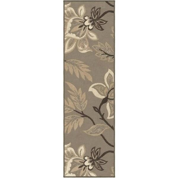 Carolina Weavers Finesse Collection Floweret Grey Runner (2'3 x 8') - 2'3 x 8' 13797808