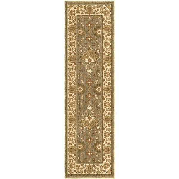 Versailles Eleanor Green Rug (2'3 x 8')