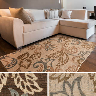 Meticulously Woven Doraville Floral Polypropylene Area Rug (5'3 x 7'6)