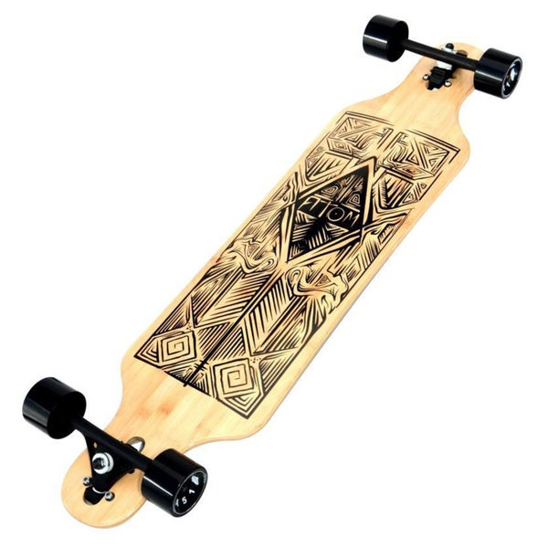 Atom 40-inch Tiki Bamboo Drop-through Longboard