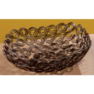 9-inch Square Copper @ Swirl Basket