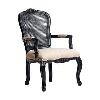 West Indies Hand-rubbed Black Accent Chair