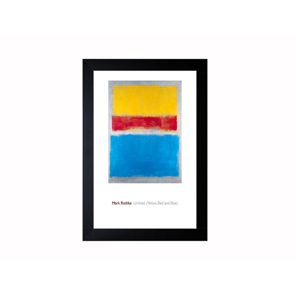 Mark Rothko 'Untitled (Yellow, Red and Blue)' Framed Artwork