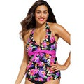 Shore Club Women's Plus Size 'Dahlia' Tie-front Tankini Top