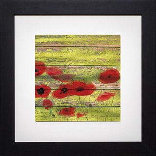 Irena Oriov 'Red Poppies 1' Framed Artwork