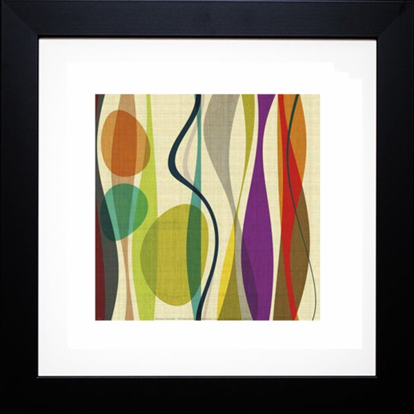 Barry Osbourn 'Postive Energy Square 2' Framed Artwork