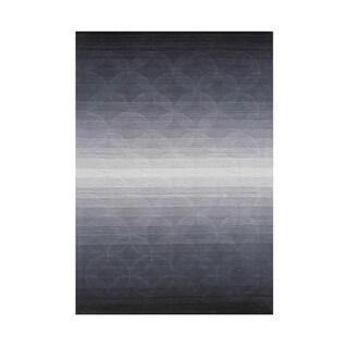 Alliyah Hand Loomed Opal Grey New Zealand Wool Rug (5' x 8')
