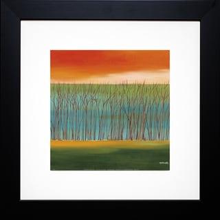 Mary Johnston 'Prairie Abstract 5' Framed Artwork