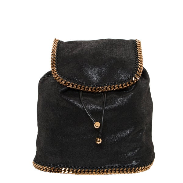 Stella McCartney Faux Suede Chain Backpack