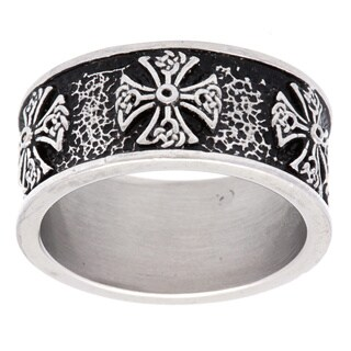 Stainless Steel Tribal Cross Ring