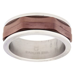 Stainless Steel Brown Layered Band
