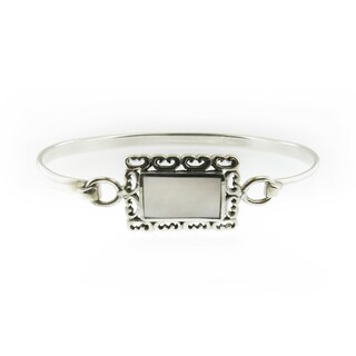 Handcrafted Sterling Silver Rectangular Mother of Pearl Cuff Bracelet (Thailand)