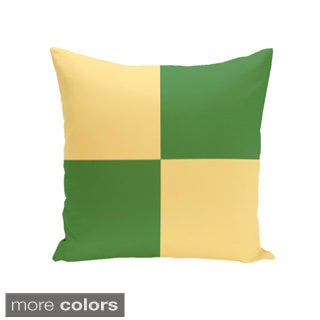 20 x 20-inch Large Check Print Decorative Pillow