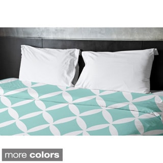 Lattice Print King Duvet Cover