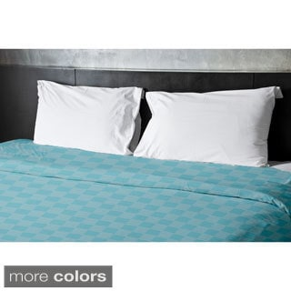 68 x 92-inch Two-tone Checkerboard Print Duvet Cover