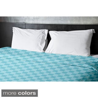 68 x 92-inch Checkerboard Print Duvet Cover
