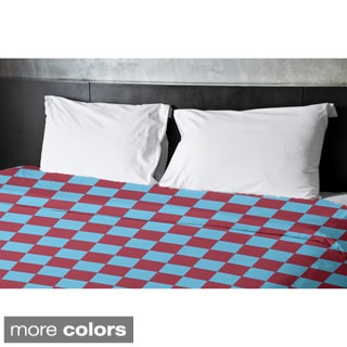 68 x 92-inch Two-tone Check Print Geometric Duvet Cover