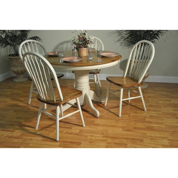 Whitaker Furniture Oak Round Dining Table