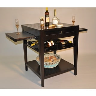 Whitaker Furniture Glass Tile Top Serving Island