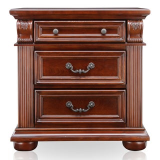 Furniture of America Angelica English Style Brown Cherry Nightstand
