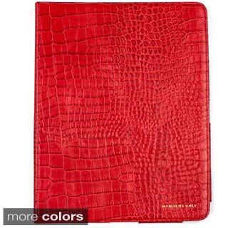 Bovine Leather iPad Portfolio Case with Magnetic Closure