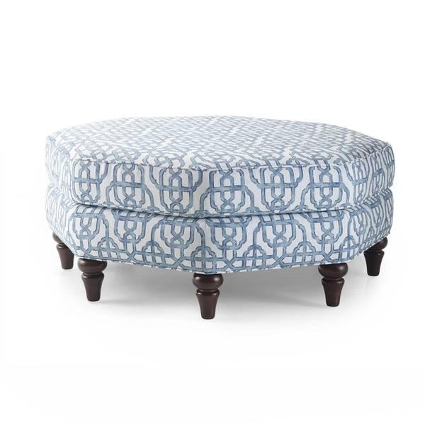 Natasha Blue Octagonal Ottoman