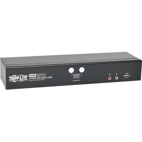 Tripp Lite 2-Port DVI Dual-Link / USB KVM Switch w/ Audio and Cables
