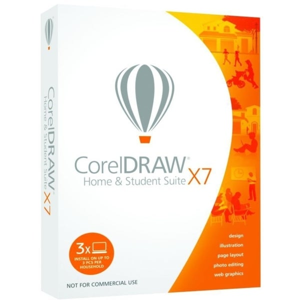 Corel CorelDRAW X7 Home & Student - 3 PC in One Household