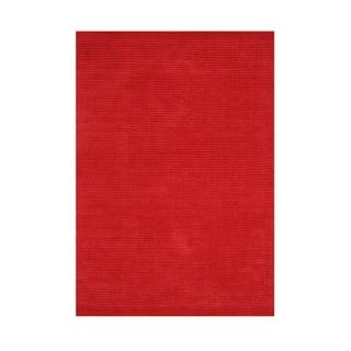 Alliyah Hand-loomed Fiery Red New Zealand Wool Rug (5' x 8')