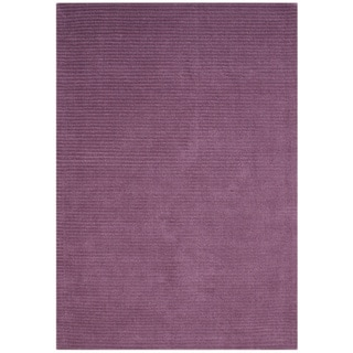 Alliyah Hand-loomed Purple New Zealand Wool Rug (5' x 8')