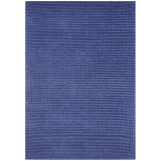 Alliyah Hand-loomed Blue Patriot New Zealand Wool Rug (5' x 8')