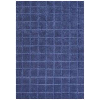 Alliyah Hand-loomed Dazzling Blue New Zealand Wool Rug (5' x 8')