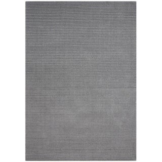 Alliyah Hand-loomed Silver Cloud New Zealand Wool Rug (5' x 8')