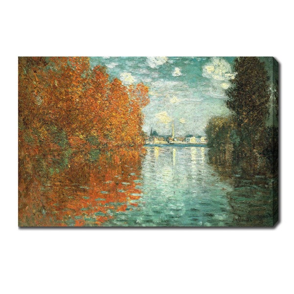 Claude Monet 'Autumn effect at Argenteuil' Oil on Canvas Art