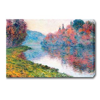 Claude Monet 'Banks of the Seine, Vetheuil' Oil on Canvas Art