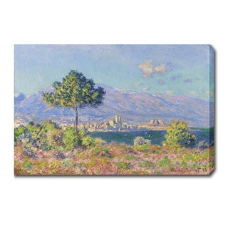 Claude Monet 'Morning at Antibes' Oil on Canvas Art