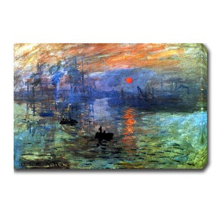 Claude Monet 'Sunrise' Oil on Canvas Art