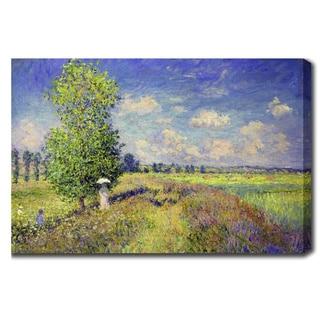 Claude Monet 'The Summer Poppy Field' Oil on Canvas Art