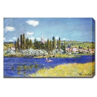 Claude Monet 'Vetheuil' Oil on Canvas Art