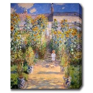 Claude Monet 'The Artist's Garden at Vetheuil' Oil on Canvas Art